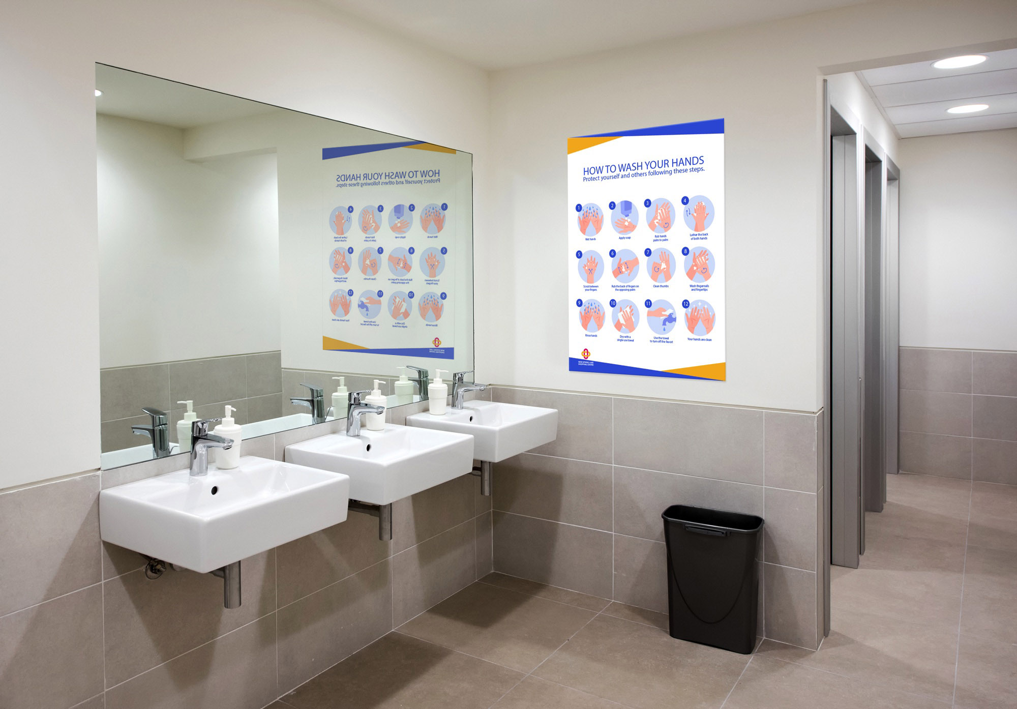 hand washing sign business
