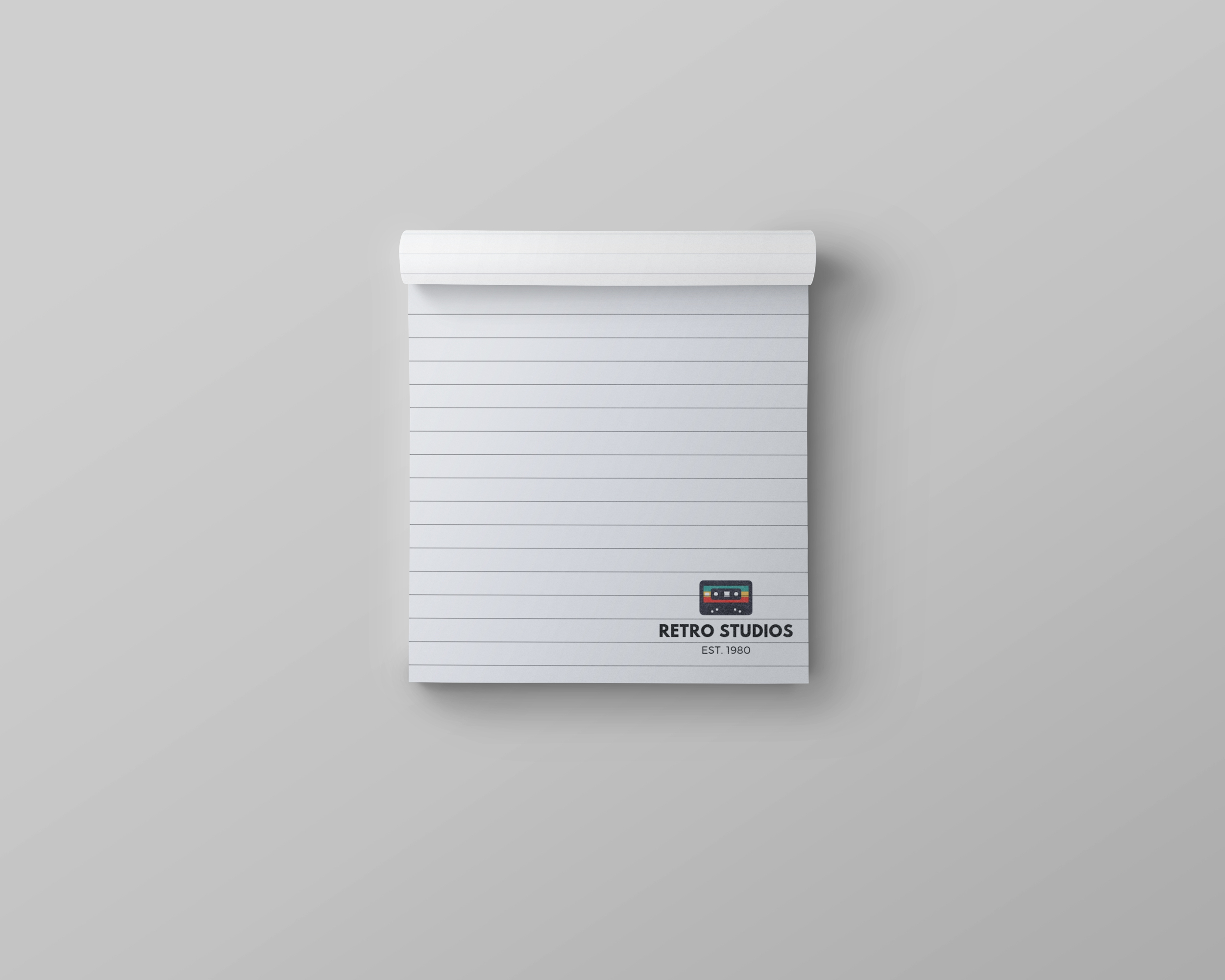 square branded notepad