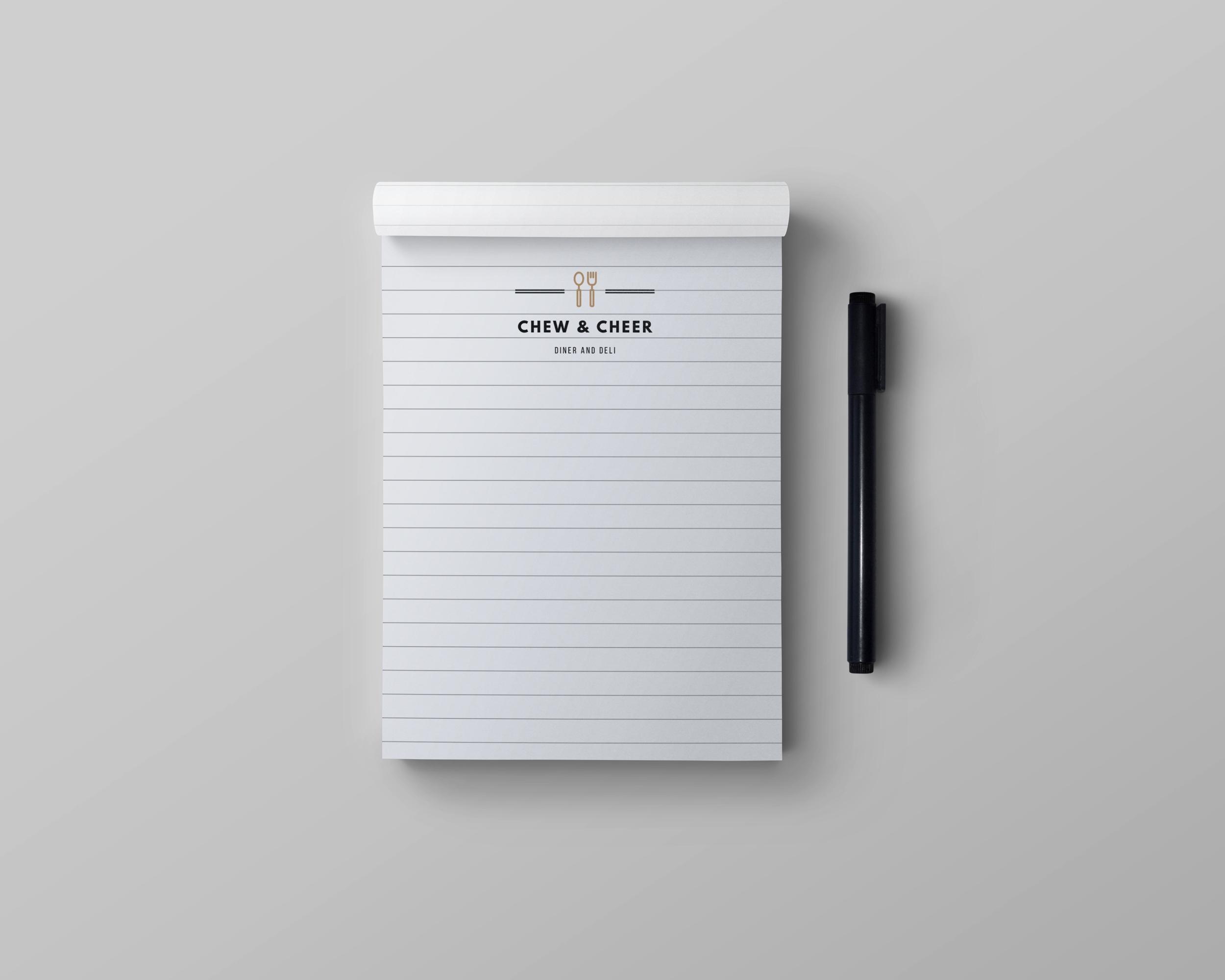 regular branded notepad