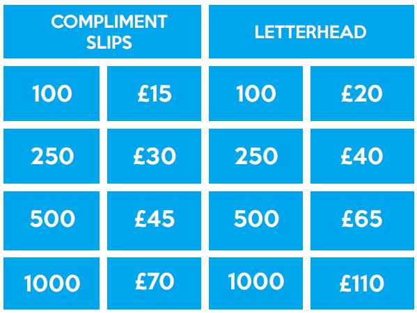 Letterhead prices