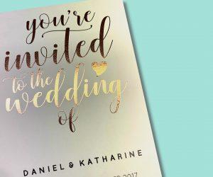 Wedding stationery foil invite